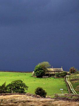 Storm over fields near Clitheroe